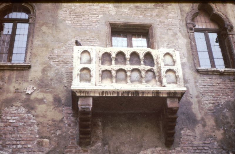 Verona - balkon Julii Capuletti